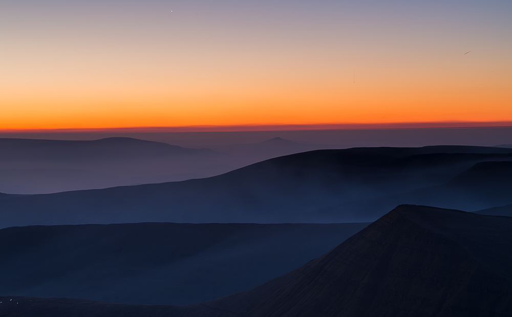 Pre-sunrise on Pen Y Fan - approximately 6am