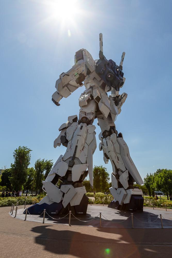 Photograph of Odaiba Gundam