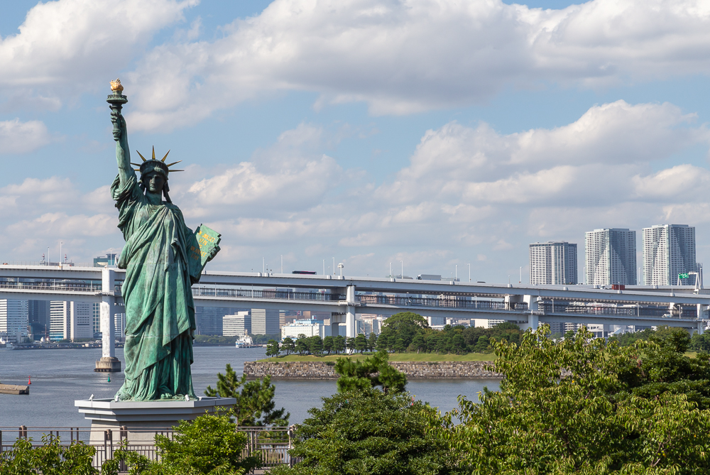 Photograph of the Statue of Liberty in Tokyo