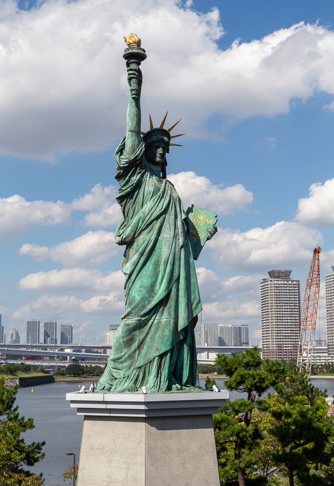 Photograph of the Tokyo Statue of Liberty