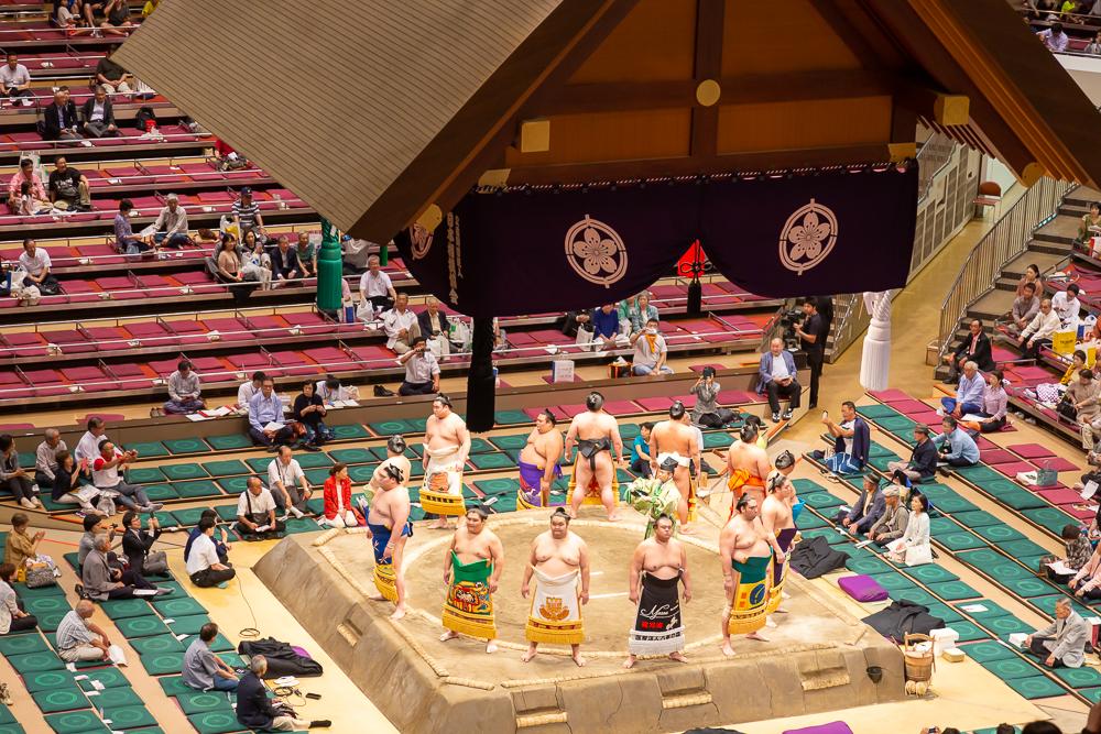 Tokyo Sumo Tournament in Ryogoku Kokugikan
