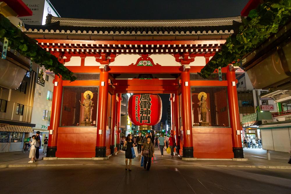Photograph Sensoji Temple at night